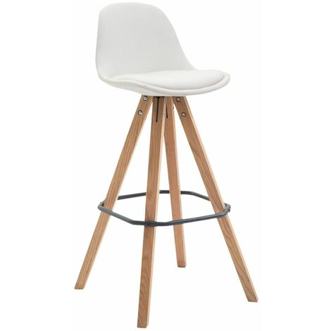 Tabouret de bar Franklin similicuir / piétement carré