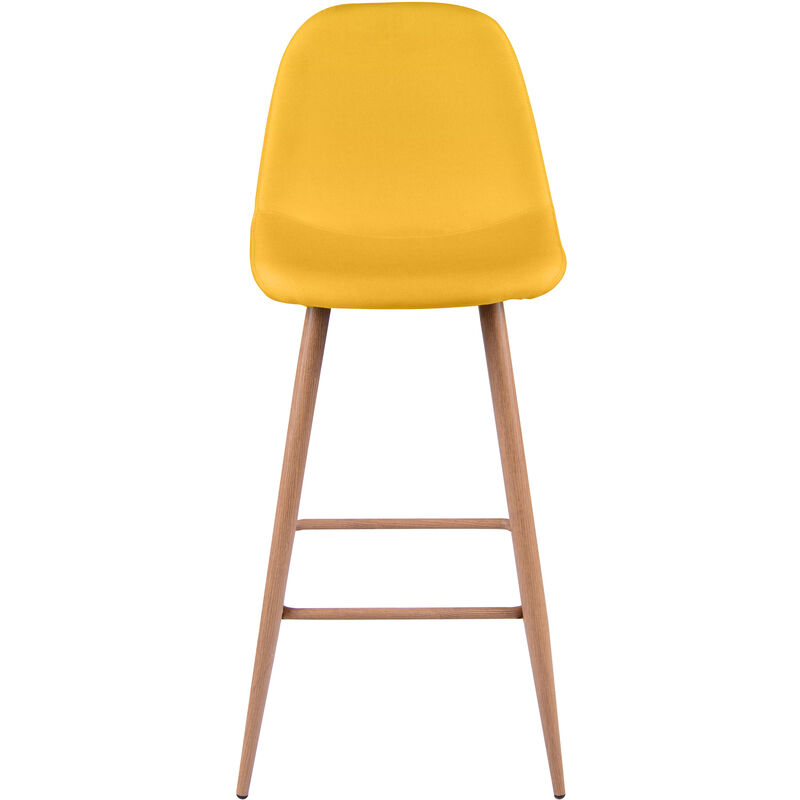 Tabouret de bar Fredrik jaune 72.5 cm (lot de 2)