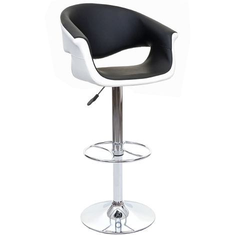Tabouret de bar HHG-024, chaise de bar/comptoir, rotatif, avec dossier, similicuir