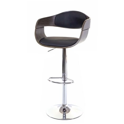 Tabouret de bar HHG-048, chaise de bar, bois courbé, design rétro