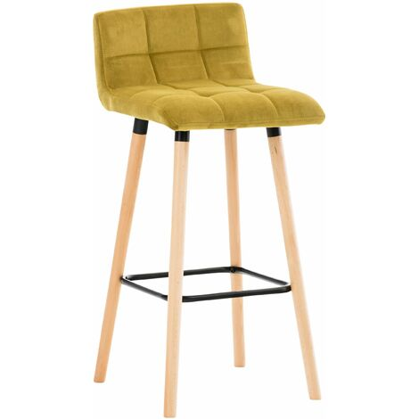 Tabouret de bar Lincoln en velours