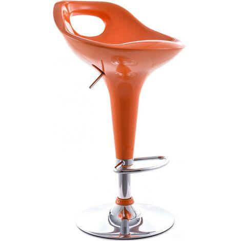 Tabouret de Bar Modern Pivotant Orange