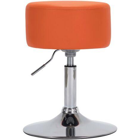 Tabouret de bar Orange Similicuir