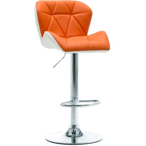 Tabouret de bar Orange Similicuir