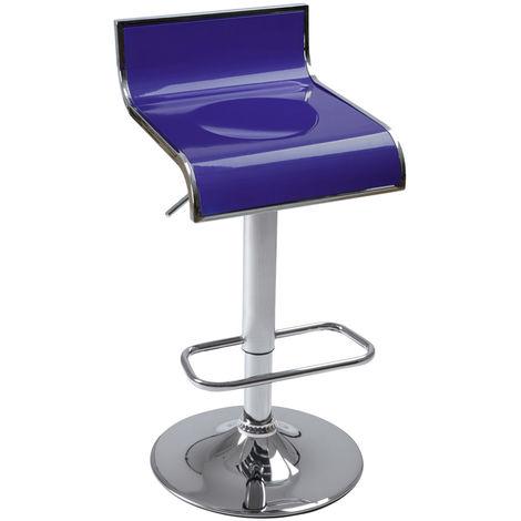Tabouret de Bar Réglable Pivotant a 360° Chaise Cuisine Lot de 1 Rouge/Bleu