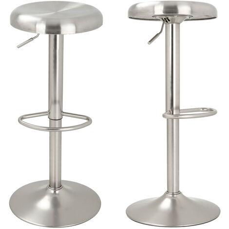 Tabouret de bar Silver 60/82 cm - Gris