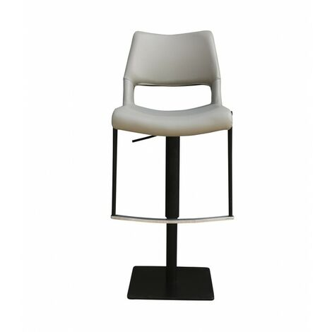 Tabouret de bar simili gris clair - YORU Grey - Gris