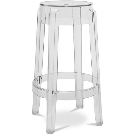 Tabouret de bar Victoria - 65cm Transparent