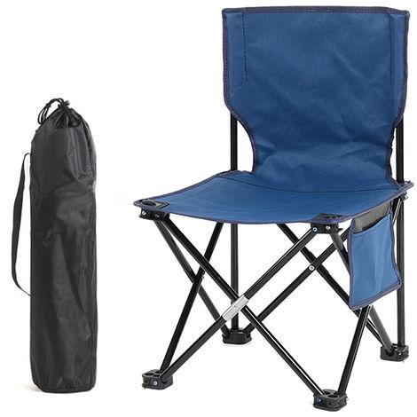 Tabouret De Chaise De Peche Pliable, Pour Le Camping En Plein Air, Bleu
