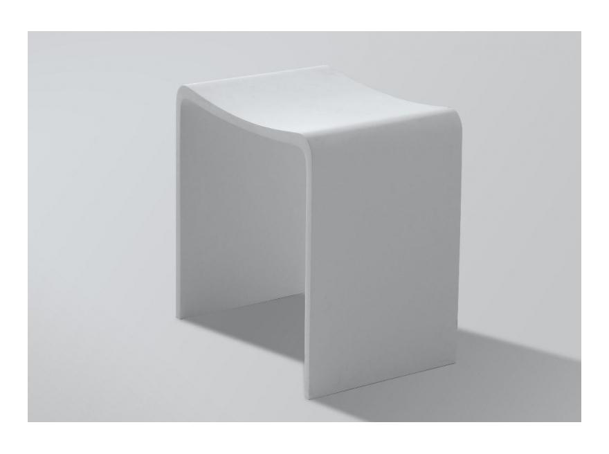 Tabouret de douche en solide surface Maranello