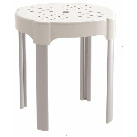 Tabouret de douche Profilo - 42 cm - Blanc