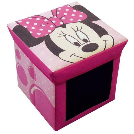 Tabouret de rangement et ardoise Minnie Mouse Disney