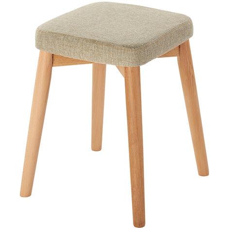 Tabouret de restaurant tabouret carr¨¦ en bois massif maison cr¨¦ative chaise en bois de h¨ºtre tissu dressing tabouret bas petit banc