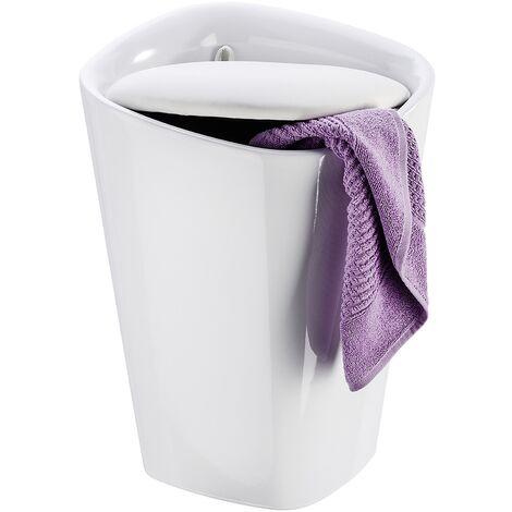 Tabouret de salle de bain Candy blanc rectangulaire WENKO