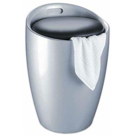 Tabouret de salle de bain Candy silver WENKO