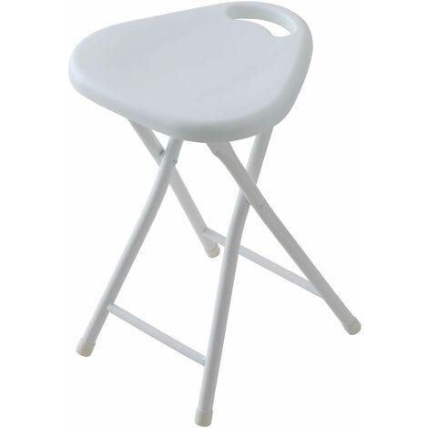 Tabouret de salle de bain pliant de couleur gris tourterelle Feridras 868006 | Tortora