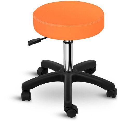 Tabouret De Travail Bureau Tabouret à Roulettes Pivotant Siège 150 Kg Pvc Orange