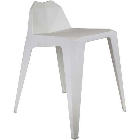 Tabouret design en polypropylène Origami Blanc