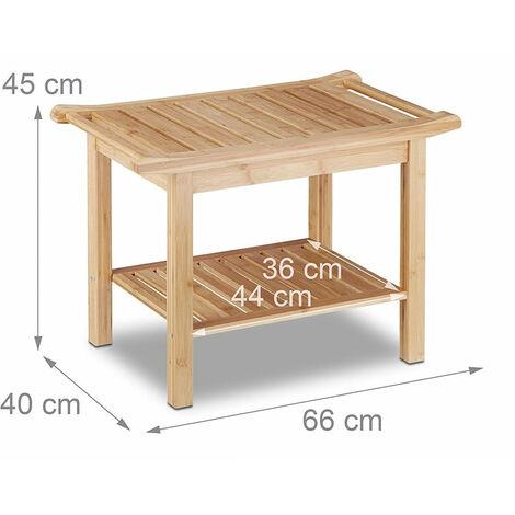 Tabouret en bambou table basse d\'appoint salle de bain