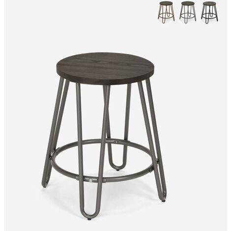Tabouret en métal design industriel pour bars restaurants cuisines Carbon One