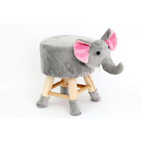 Tabouret enfant Eléphant Wilddidou - Gris