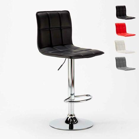 Tabouret haut moderne en similicuir pour la cuisine et bar design PHOENIX