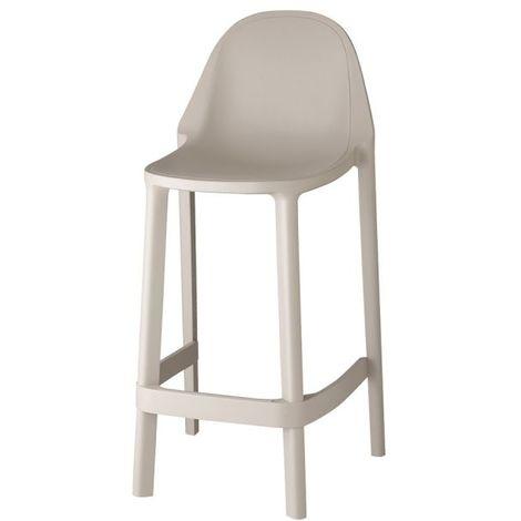 Tabouret haut Più mini 65cm par Scab Design - Beige scab - Utilisable en extérieur et en intérieur - Empilable - Beige scab