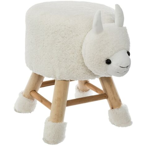 Tabouret mouton en bois
