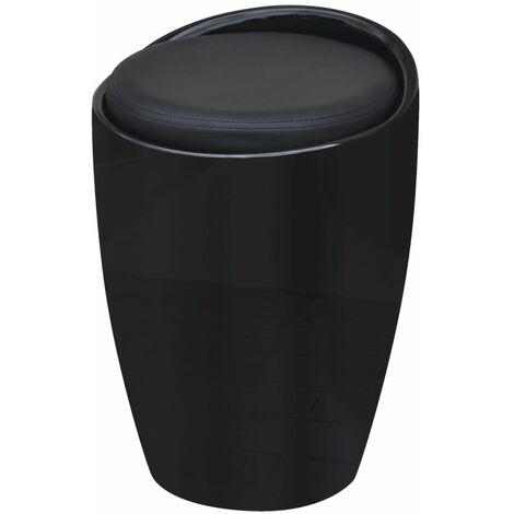 Tabouret Noir Similicuir