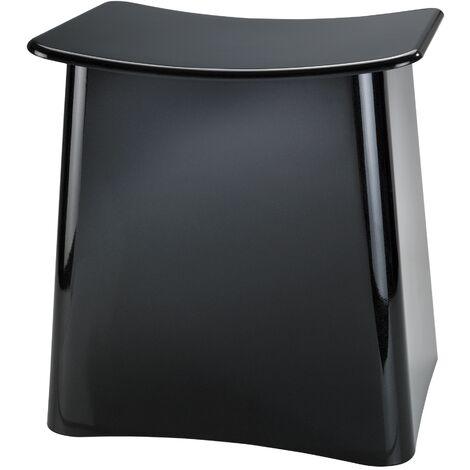 Tabouret panier à linge 2en1, coffre à linge avec sac amovible, Plus, noir