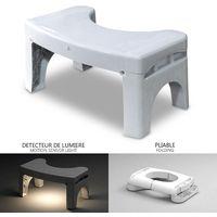 Tabouret physiologique pour toilettes| Pliable avec détecteur de lumière intégrée | Libère le colon et fournit une meilleure assise et position aux toilettes