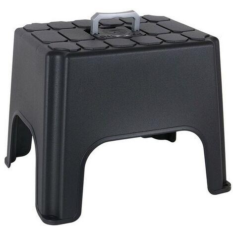 """main image of """"Tabouret plastique noir (34 x 27 cm) Rogal"""""""