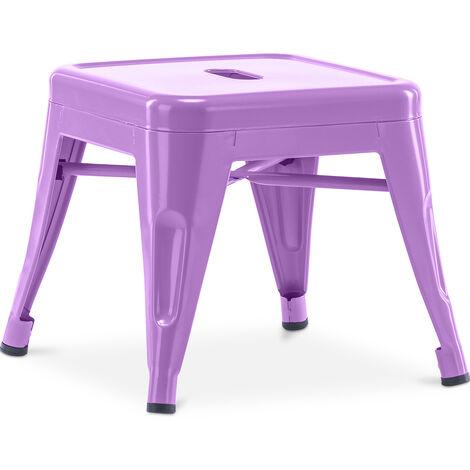 Tabouret pour enfant de style Tolix - Métal Violet