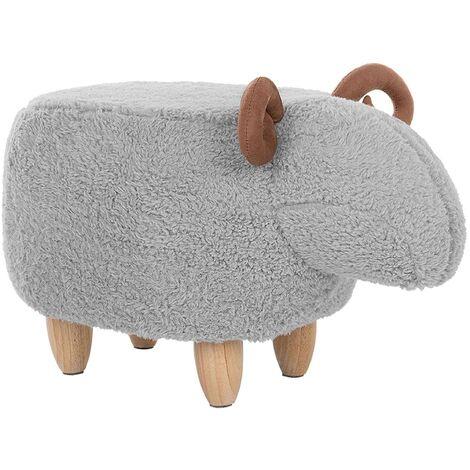 Tabouret pour enfant en forme d'agneau à cornes