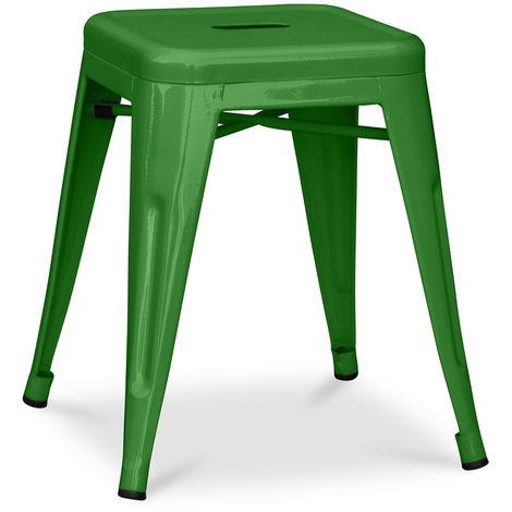 Tabouret Tolix 45cm Pauchard Style - Métal Vert