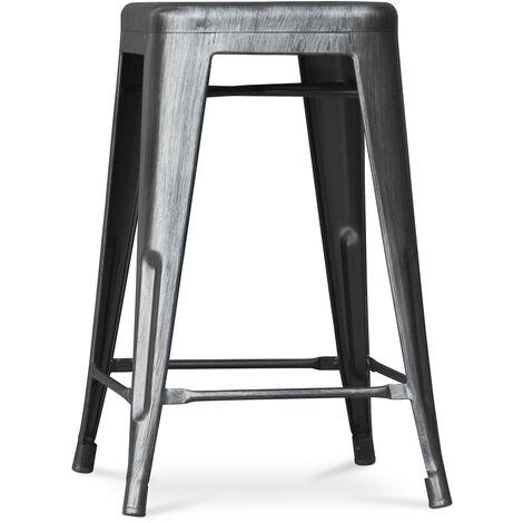 Tabouret Tolix 60cm Pauchard Style - Métal Noir