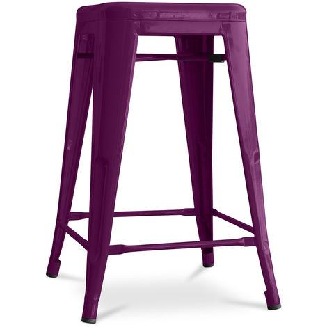 Tabouret Tolix 60cm Pauchard Style - Métal Violet
