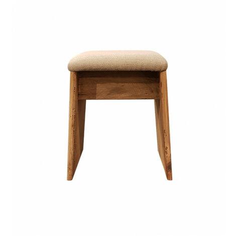 Tabouret trapèze oblique incliné assise souple bois - CHALET - naturelle