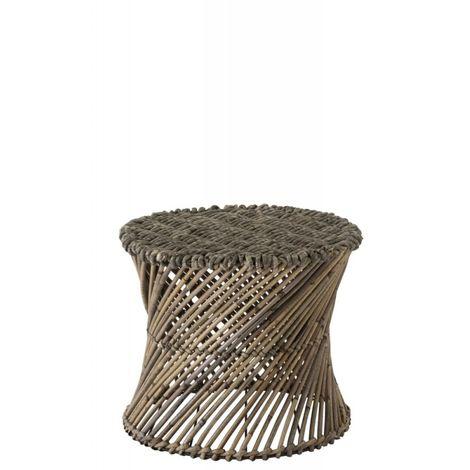 Tabouret/Vase Rotin Marron Large