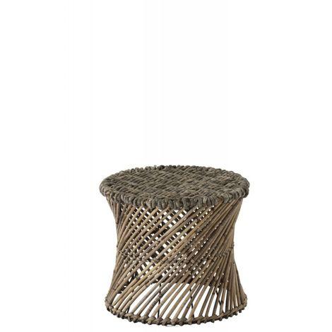Tabouret/Vase Rotin Marron Small