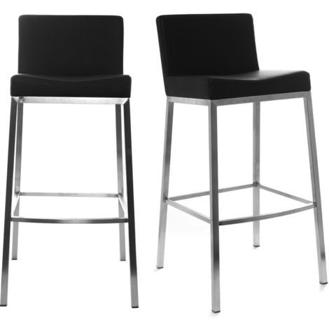Tabourets de bar design 76 cm EPSILON (lot de 2)