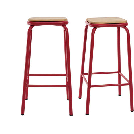 Tabourets de bar empilables H65 cm (lot de 2) MEMPHIS