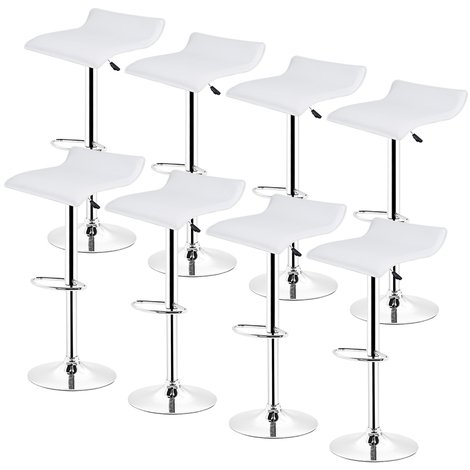 Tabourets de bar, Lot de 8 - Chaise de Bar Tabouret 角 la Maison , Cuisine Blanc