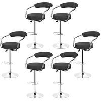 Tabourets de bar Noir Style contemporain - réglable en hauteur et rotatif(lot de 4)