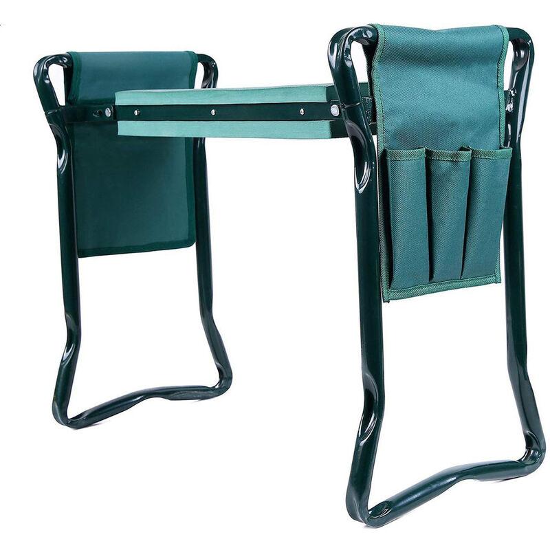 Tabourets de jardinage Agenouilloir Pliable siège de Jardin à genoux avec trousse à outils