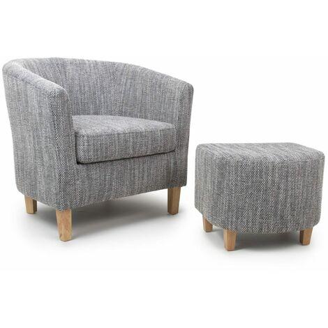 Tabula Tweed Grey Chair & Stool Set