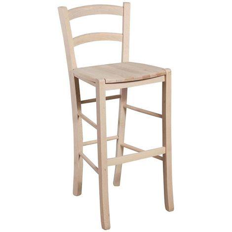 Taburete de bar de madera y asiento de madera para mesa de comedor para restaurante para pizzería para cocina para granjas pobre
