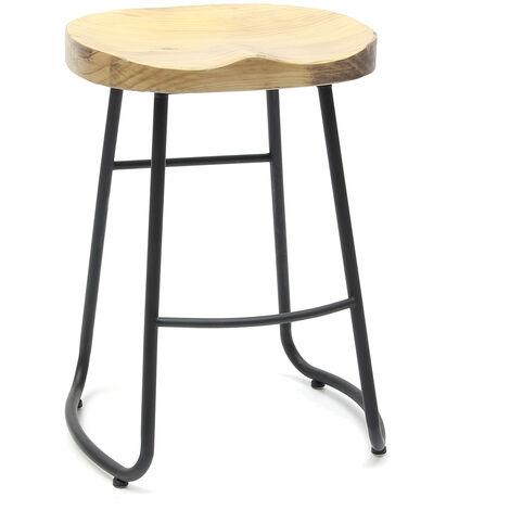 Taburete de bar vintage retro asiento de madera industrial cocina silla de bar taburete de bar LAVENTE