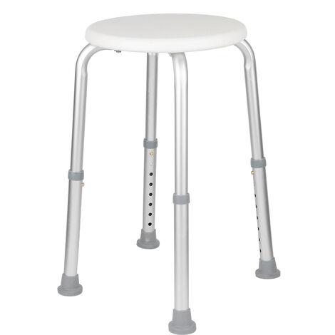 Taburete de ducha acolchado para silla de ducha, con patas ajustables Asiento de seguridad antideslizante para bano
