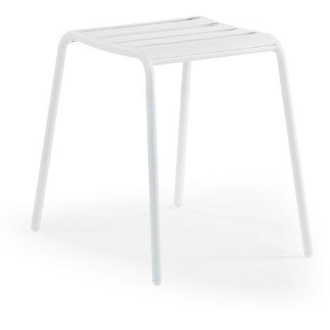 SKLUM Taburete Dehna Aluminio Blanco